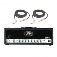 Peavey 6505 Electric Guitar Metal 120W Amplifier Speaker Tube Amp Head & Cables