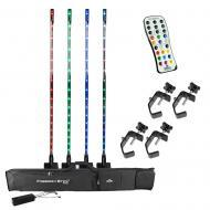 Chauvet Freedom Stick Pack DJ Battery Powered (4) RGB LED Light Package & Remote - Refurbished
