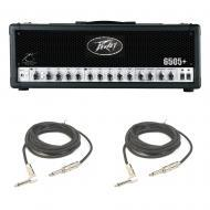 Peavey 6505 Plus Electric Guitar Amplifier 120W Speaker Amp Head 3 EQ & Cables