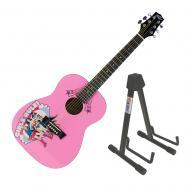 Peavey 3/4 Size Student Acoustic DC Comics Girls Rule Starter Guitar & Stand New
