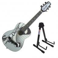 Peavey 1/2 Size Student Acoustic MLB Chicago White Sox Starter Guitar & Stand