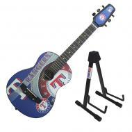 Peavey 1/2 Size Student Acoustic MLB Texas Rangers Starter Guitar & Stand New