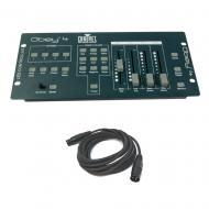 Chauvet Obey 4 DJ Lighting Compact DMX Controller 4 Channel Light & Cable