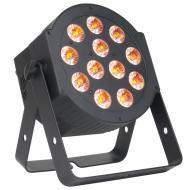 American DJ 12P HEX 12x12-Watt RGBAWUV 6-in-1 LED Flat Par Wash Lighting Fixture - Black