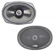 "Audio Legion CME69 Car Audio 6x9"" Coaxial 80W Stereo Speaker Pair 4 Ohm New"