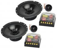 "Audio Legion CMPE65 Car Audio 6 1/2"" Component 80W Stereo Speaker Pair 4 Ohm"