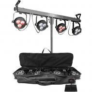 Chauvet DJ Lighting 4BAR LT USB Portable Tripod (4) Par LED Wash Light Package - Refurbished