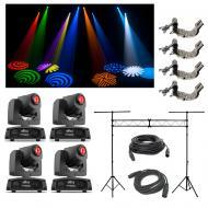 (4) Chauvet DJ Intimidator Spot 155 Moving Head Light w/ Truss Clamps & Cables