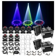 (8) Chauvet DJ Lighting Intimidator Beam 140SR Light Quad Case Bag Clamp Cable