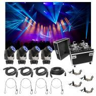 (4) Chauvet DJ Lighting Intimidator Trio Light Quad Case Bag Clamp Cable Package