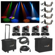 (4) Chauvet DJ Intimidator Spot 155 Moving Head Light w/ Bags Clamps & Cables
