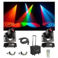 (2) Chauvet DJ Intimidator Spot 255 IRC Moving Head Light Remote Bag Cables New