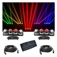 (2) Chauvet DJ Lighting Intimidator Wave 360 IRC Wall Light DMX Operator Cables