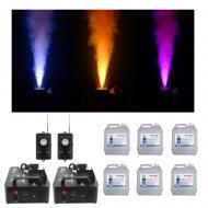 (2) Chauvet DJ Lighting Geryser P6 Fog & LED Blast Light Motion Sensor & Fluid