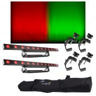 (2) Chauvet DJ Lighting COLORband T3 USB LED Wash Strip Light w/ Bag & Clamps