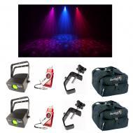 (2) Chauvet DJ Lighting Abyss USB Simulated Water Light w/ D-Fi USB Bag & Clamps