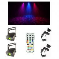 (2) Chauvet DJ Lighting Abyss USB Simulated Effect Water Light w/ Remote & Clamp