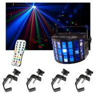 Chauvet DJ Lighting Mini Kinta IRC Derby Color LED Light w/ Remote & Clamps New
