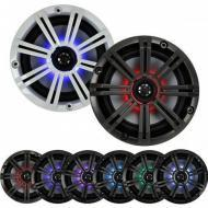 "Kicker KM65 Marine Audio 6 1/2"" Full Range LED Light Boat Speakers 43KM654LCW"