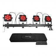 Chauvet DJ 4BAR Flex T USB Lighting Portable All in One Color Stage Wash Package