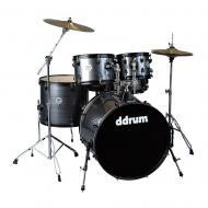 Ddrum D2 Player Series Grey Pinstripe Finish Basswood Complete Drum Set (D2P GPS)
