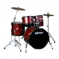Ddrum D2 Player Series Red Pinstripe Finish Basswood Complete Drum Set (D2P RPS)