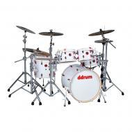 Ddrum Hybrid Series White Wrap Finish Birch Drum Kit - 6 Pieces (HYBRID 6 WHT)