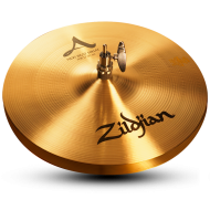 "Zildjian A0132 13"" A Series New Beat HiHats Bottom Cast Bronze Cymbal with Solid Chick Sound"
