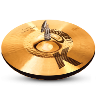 "Zildjian K1214 13 1/4"" K Custom Series Hybrid Hi Hat Top Medium Thin Drumset Cast Bronze Cym..."
