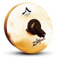 "Zildjian A0495 18"" Stadium Series Medium Heavy Pair Orchestral Cymbals with Mid To High Pitch"