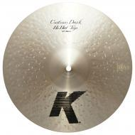 "Zildjian 14"" K Custom Series Dark Hi Hat Top Medium Thin Drumset Cast Bronze Cymbal with Low..."