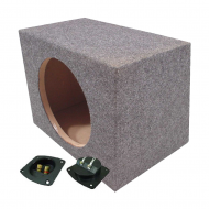 "Rear Fire Single 12"" Subwoofer Enclosure Unloaded Sub Box"