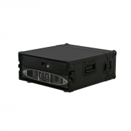 Odyssey Cases FZAR04BL Black Label Flight Ready ATA DJ Amp Rack Case with 4U Rack Spaces