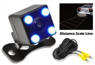 PYLE PLCM4LED Mini Square 0.2 LUX Night Vision IP-67 Rated Rear View Camera