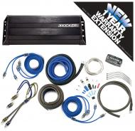 Kicker PXA300.4 Car Audio 4 Channel 300W Amp Package & CK8 Amplifier Kit - 3 Year Warranty!