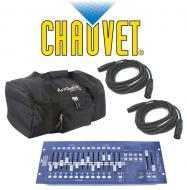 Chauvet DJ Lighting Obey 70 Light Fixture DMX-512 Controller with (2) DMX Cables & Arriba Tra...