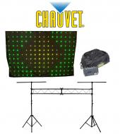 Chauvet DJ Lighting Motion Drape LED Animated Color Backdrop with Portable Truss System Package