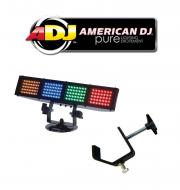 American DJ Lighting Color Burst LED Multi Color LED Chase Wash Light with Truss C Clamp Package
