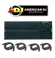 American DJ Lighting Scene Setter 48 Console Dimming Light Controller with (4) DMX Cables