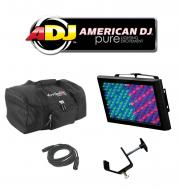 American DJ Lighting Mega Panel LED Color Changing Wash Light with Arriba Bag, DMX Cable & Tr...
