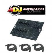 American DJ Lighting Stage Setter 8 DMX 16 Channel Dimmer Controller with (3) DMX Cables Package