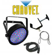 Chauvet Lighting SLIMPAR 64 Stage LED Slim Par Can Light with DMX Cable, Safety Cable & Clamp...