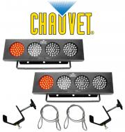 Chauvet Lighting (2) DJ BANK Multi Color LED Chase Effect Light with (2) Mounting Clamps & (2...