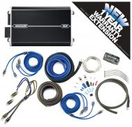 Kicker DXA250.4 Car Audio 4 Channel 250W Amp Package & CK8 Amplifier Kit - 3 Year Warranty!