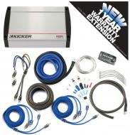 Kicker KX400.4 Car Audio 4 Channel 400W Amp Package & CK8 Amplifier Kit - 3 Year Warranty!