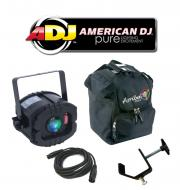 American DJ LED Trispot Color RGB Pinspot Mirror Disco Ball Light with Arriba Bag, Truss Clamp &a...