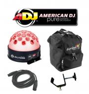 American DJ Lighting Jelly Dome Glowing Moonflower LED Color Light with Arriba Bag, Truss Clamp &...