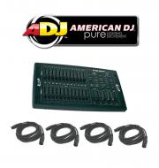 American DJ Lighting Scene Setter DMX 24CH Dimmer LED Par Can Wash Controller w/ (4) DMX Cables