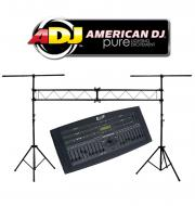 American DJ Lighting DMX Operator 136CH Hybrid Chase Console Controller with Portable Truss System