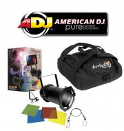 American DJ Lighting 64 BLACK COMBO Par Can Stage Light with Arriba AC-50 Accessory Bag